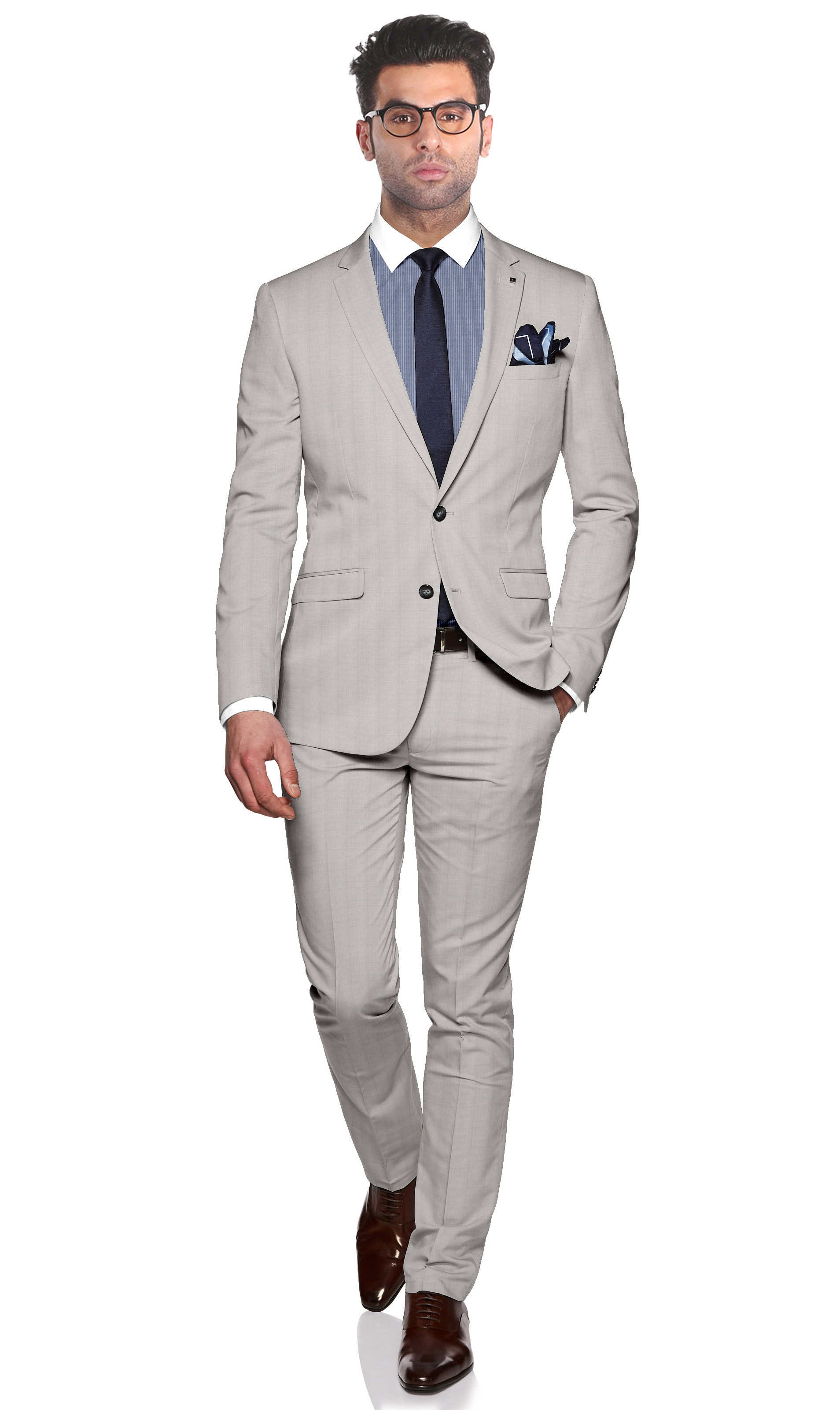 suit fit slim french jacket connection gray grey light silver