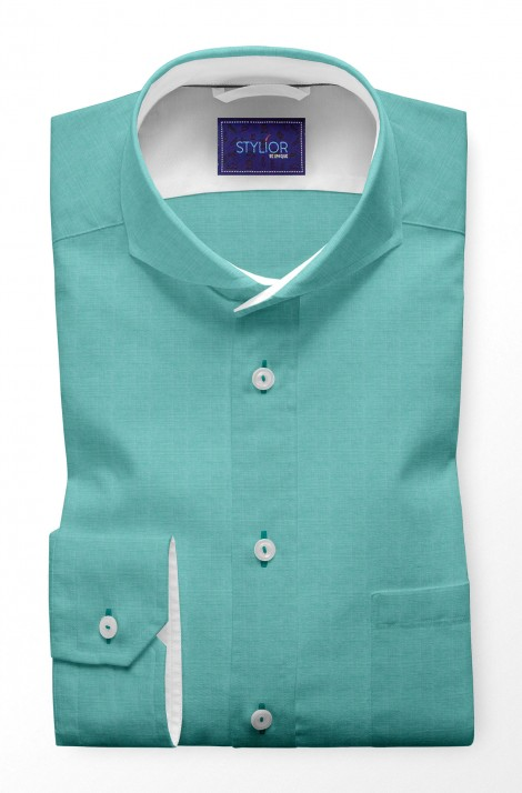 Chambray Aqua Blue Shirt