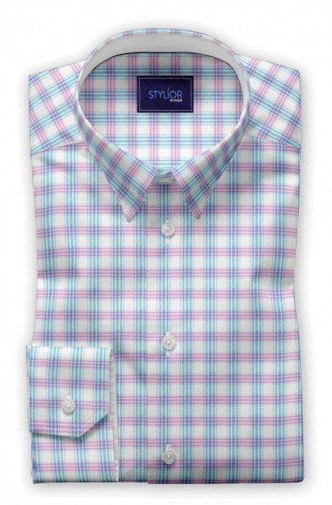 Multi Checks Twill Pink Shirt