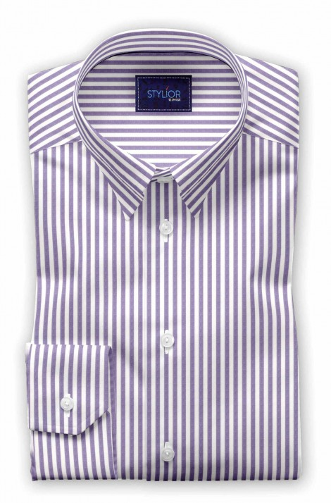 Milan Purple Stripe Shirt