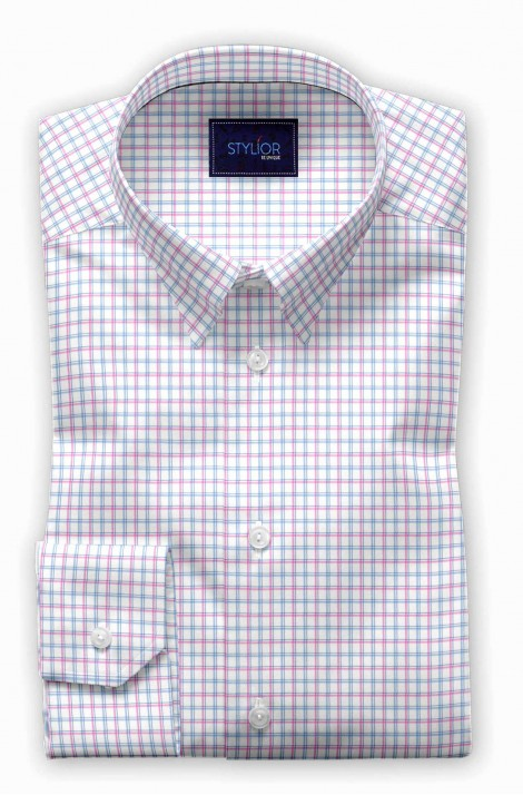 Lisbon Pink Checks Shirt