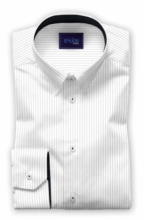 Munich Grey Pinstripe Shirt
