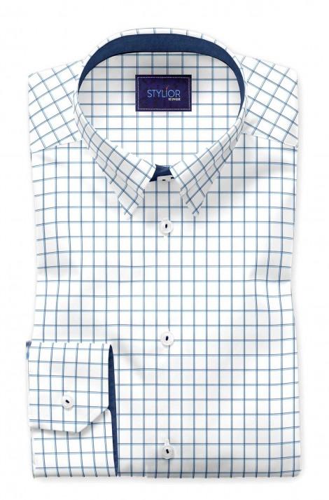 Zargoza Blue Checks Shirt