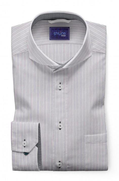 Tulon Grey Stripe Shirt