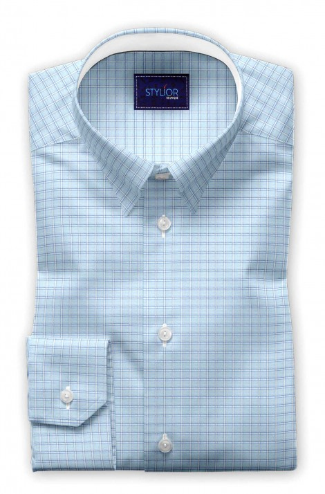 Grenoble Blue Checks Shirt
