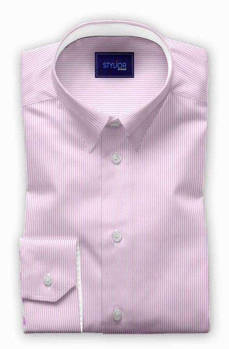 Popa Pins Pink Dobby Stripe Shirt