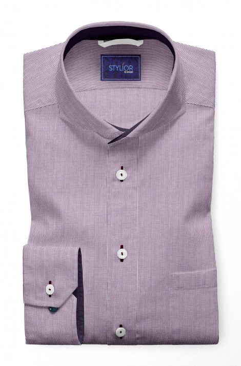 Sigma Stripes Purple Pinstripe Shirt