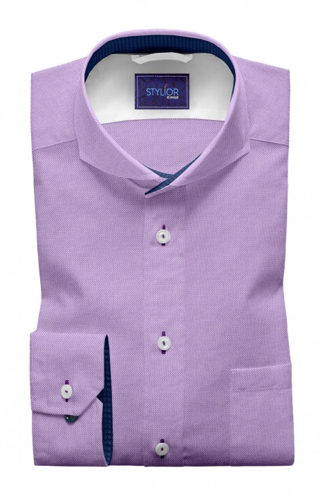 Marseillie Lilac Textured Oxford Shirt