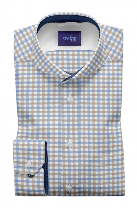 Glasgow Khaki Checks Shirt