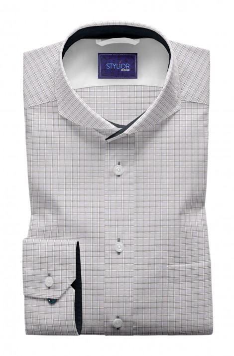 Grenoble Grey Checks Shirt