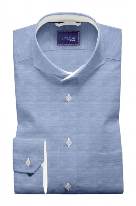 Modern Matt Finish Sky Blue Shirt