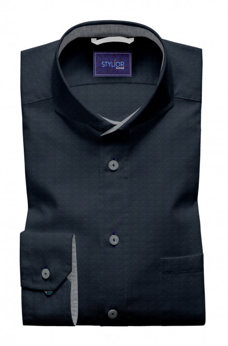 Classic Plain Dark Blue Shirt