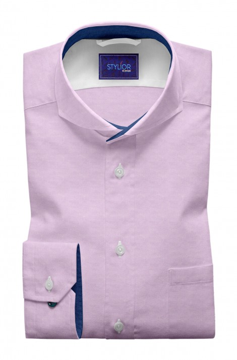 Classic Diagonal Twill Pink Shirt