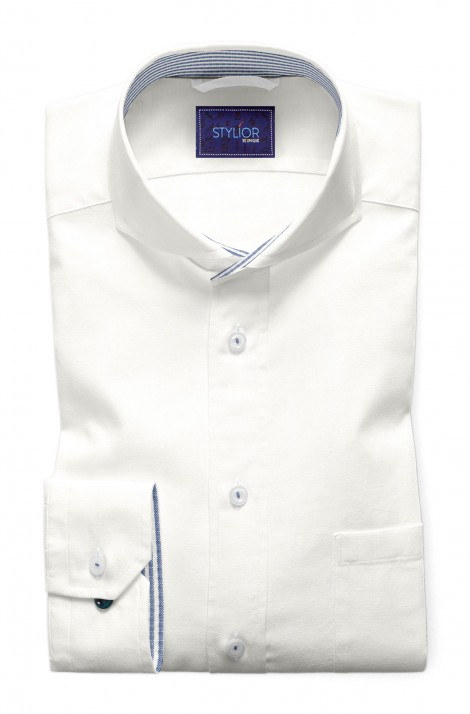 Classic Plain Settled White Shirt