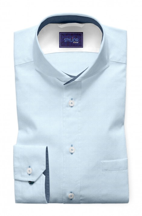 Classic Plain Sky Blue Shirt