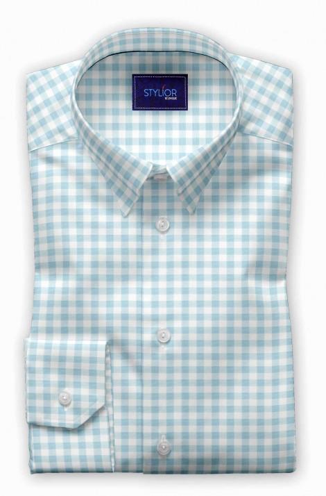 Square Checks Grey Shirt