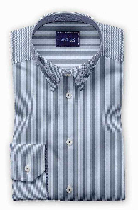 Blue Sigma Stripe Shirt