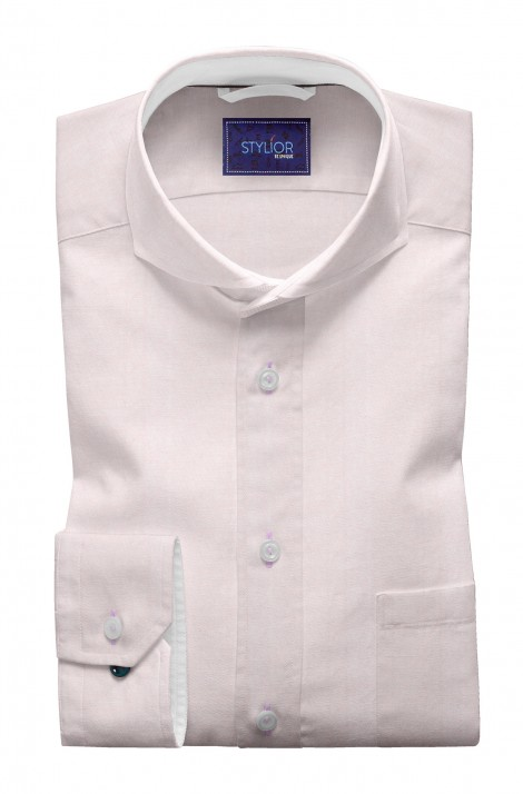 Matt Finish Weave Baby Pink Shirt