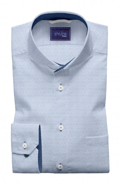 Square Dobby Light Blue Shirt