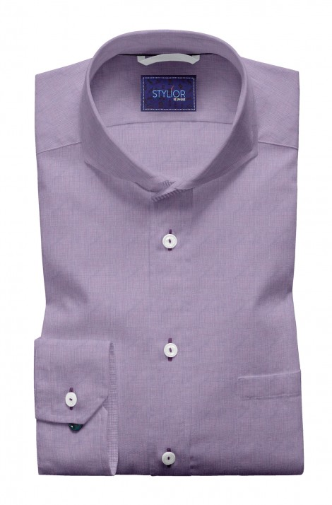Purple Kandy Solid Filafil Shirt