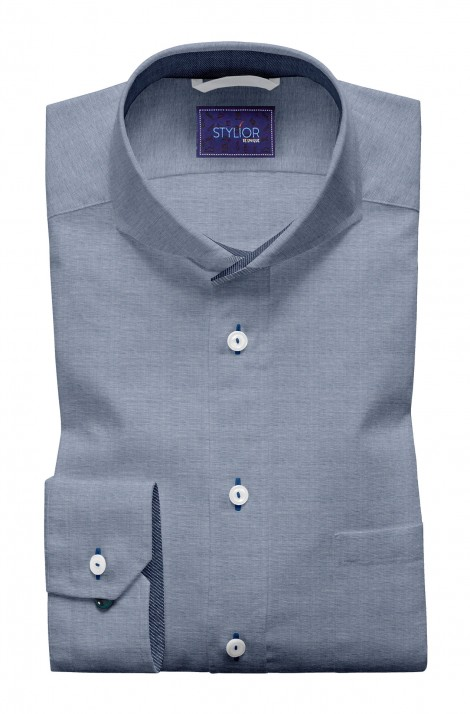 Birmingham Navy Yarn Dyed Shirt