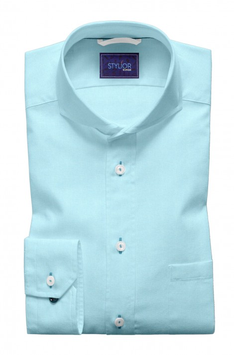 Madrid Solid Sky Blue Shirt